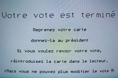 De Verkiezings 2012 Machine van België Royalty-vrije Stock Fotografie