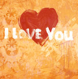 De verklaring van de kunst grunge van liefde Stock Foto