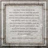 De verklaring van Onafhankelijkheid stock fotografie