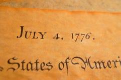 De Verklaring van Verenigde Staten van Onafhankelijkheid stock fotografie