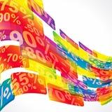 De verkoop abstracte achtergrond van de korting. Royalty-vrije Stock Foto