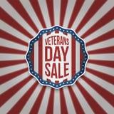 De Verkoop Amerikaans Embleem van de veteranendag met Tekst royalty-vrije illustratie