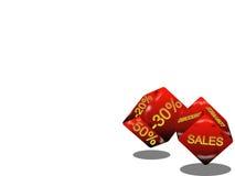 De verkoop dobbelt stock illustratie