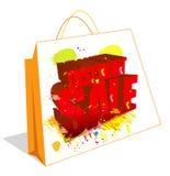 De Verkoop en de zak van de korting Royalty-vrije Stock Afbeeldingen