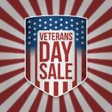 De Verkoop groot patriottisch Schild van de veteranendag royalty-vrije illustratie