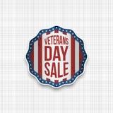 De Verkoop realistisch Embleem van de veteranendag vector illustratie