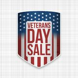 De Verkoop realistisch Schild van de veteranendag stock illustratie