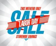 De verkoop retro ontwerp van de arbeidsdag Stock Afbeelding