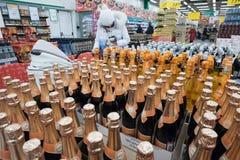 De verkoop van alcohol Stock Afbeelding