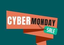 De Verkoop van de Cybermaandag in groen en oranje Royalty-vrije Stock Foto