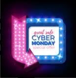 De verkoop van de Cybermaandag Stock Fotografie