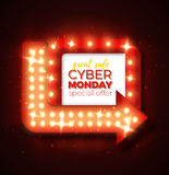 De verkoop van de Cybermaandag Stock Foto