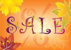 De verkoop van de herfst Stock Afbeelding