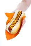 De verkoop van de hotdog stock foto