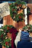 De Verkoop van de Kroon van Kerstmis Royalty-vrije Stock Foto