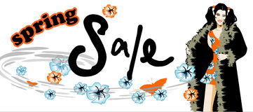 De verkoop van de lente Stock Afbeeldingen