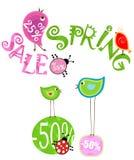 De verkoop van de lente Stock Foto