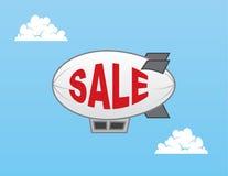De Verkoop van de luchtschipblimp Royalty-vrije Stock Fotografie