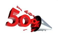 De verkoop van de megafoon Royalty-vrije Stock Foto's