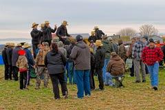De Verkoop van de Modder van Amish Stock Afbeelding