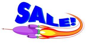 De verkoop van de raket Stock Afbeeldingen