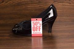 De verkoop van de schoen Stock Foto's
