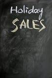De verkoop van de vakantie die op een bord wordt geschreven Royalty-vrije Stock Foto