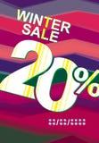 De verkoop van de winter 20% Royalty-vrije Stock Afbeeldingen