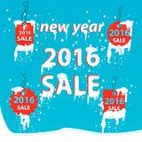 De verkoop van de winter De winter is komende verkoopachtergrond Stock Fotografie