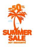 De verkoop van de zomer. vector illustratie