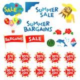 De verkoop van de zomer royalty-vrije illustratie