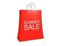 De verkoop van de zomer het winkelen zak op de witte achtergrond Royalty-vrije Stock Afbeelding