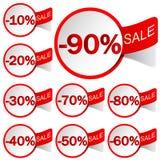 De verkoop van etiketten Stock Foto
