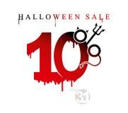 De verkoop van Halloween Vectormalplaatje van vakantieverkoop tien percentenkorting royalty-vrije illustratie