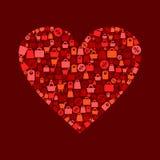 De verkoop van het hart Stock Foto's