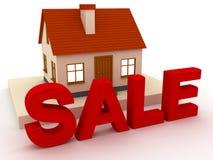 De verkoop van het huis royalty-vrije illustratie