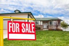 De verkoop van het huis Stock Afbeelding