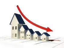 De verkoop van het huis Stock Foto