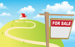 De verkoop van het huis vector illustratie