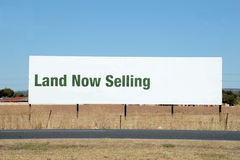 De Verkoop van het land stock fotografie