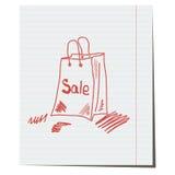 De verkoop van het pakketembleem Stock Foto