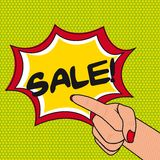 De verkoop van het pop-art Stock Fotografie