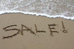 De Verkoop van het strand Stock Foto