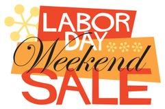 De Verkoop van het Weekend van de Dag van de Arbeid Stock Afbeeldingen