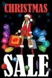 De verkoop van Kerstmis Stock Foto's