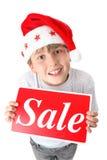 De verkoop van Kerstmis van het koopje royalty-vrije stock foto