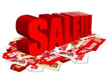De verkoop van markeringen Stock Foto