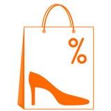 De verkoop van schoenen Royalty-vrije Stock Afbeeldingen