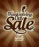 De verkoop van thanksgiving day. royalty-vrije illustratie