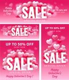 De verkoop van de valentijnskaartendag Royalty-vrije Stock Fotografie